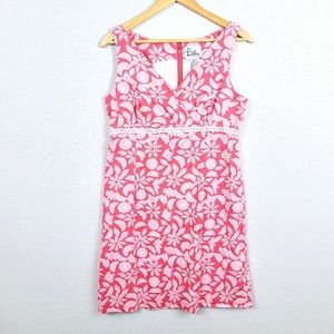 Lilly Pulitzer White Label Pink fruit Floral Dress
